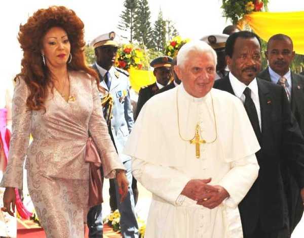 PAPA IN AFRICA:CAMERUN; BENEDETTO XVI INCONTRA PRESIDENTE REPUBB