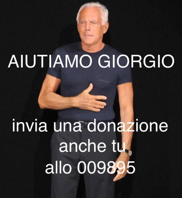 Aiuta anche tu Giorgio Armani